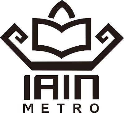 Download Logo IAIN Metro Hitam Putih PNG HD