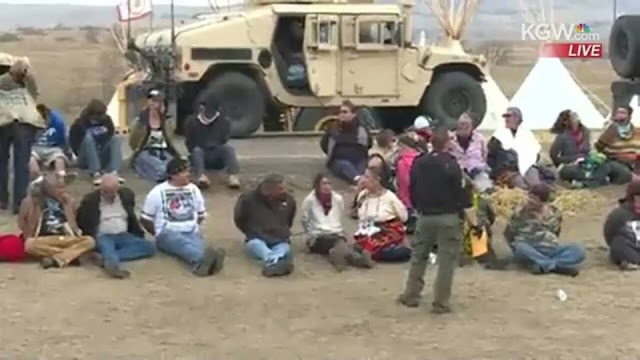 Image result for arrests standing rock