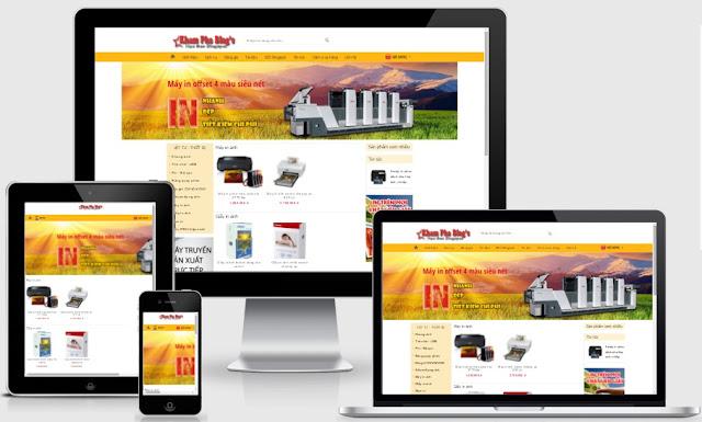 Template blogspot bán hàng máy in, khung ảnh