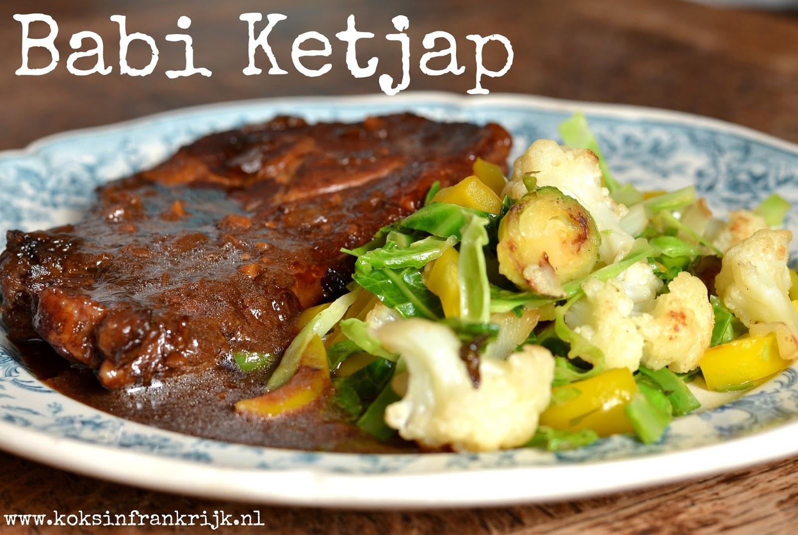 Indisch stoofpotje van varkensvlees: babi ketjap van karbonade