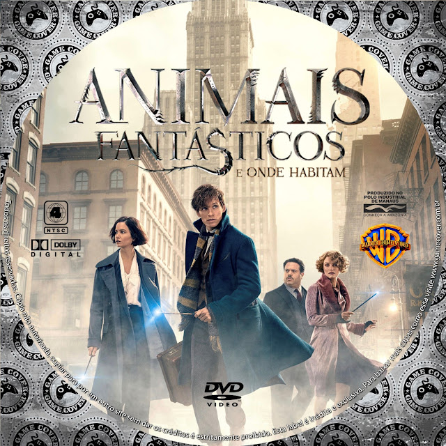 Label DVD Animais Fantásticos E Onde Habitam [Exclusiva]