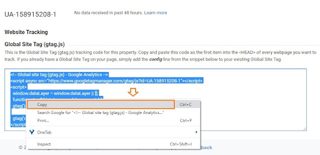 How To Find & Add Analytics Web Property ID On Blogger 12