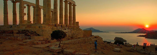 Sounion & Temple of Poseidon at sunset