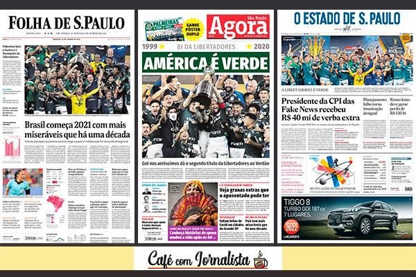 Capas dos jornais Folha de S.Paulo, Agora SP e Estadão deste domingo (31)