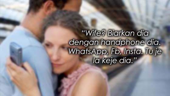 Isteri Asyik Main Handphone, Suami Skandal Sampai Terlanjur
