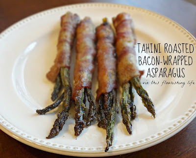Recipe: Tahini Roasted Bacon-Wrapped Asparagus