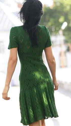 wzor sukienki na drutach