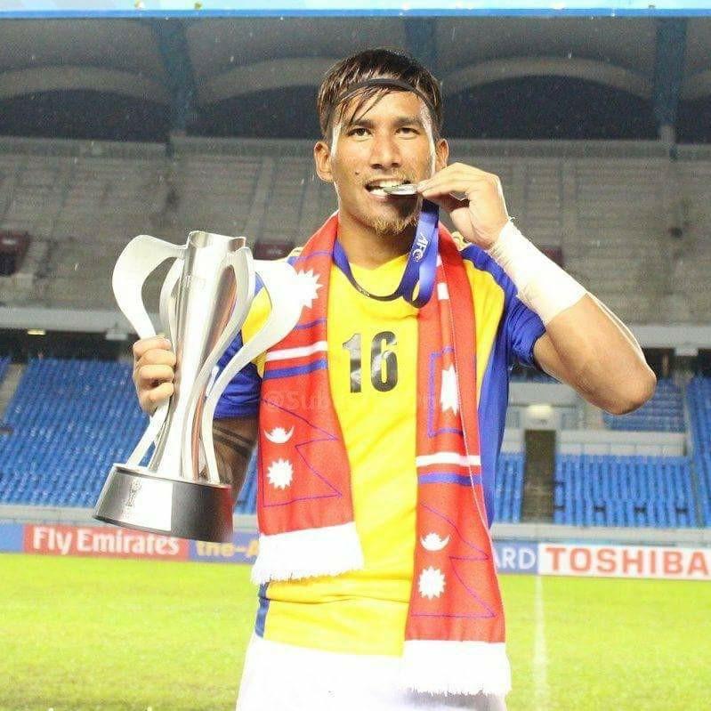 Kiran Chemjong nepali football