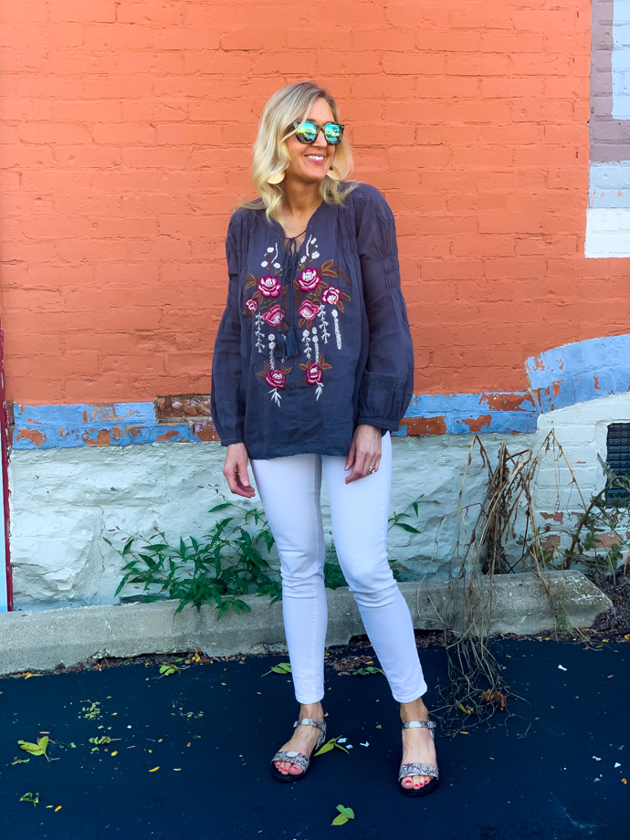 How to transition your boho top to fall