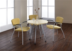 Small Round Meeting Table with Contemporary Style