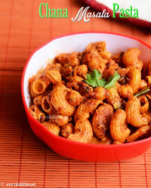 Chana masala pasta recipe indian style pasta raks kitchen chana masala pasta recipe indian style pasta forumfinder Choice Image