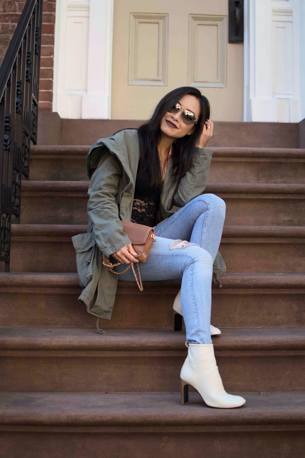 olive green utility jacket fashion blogger snapshots of my closet