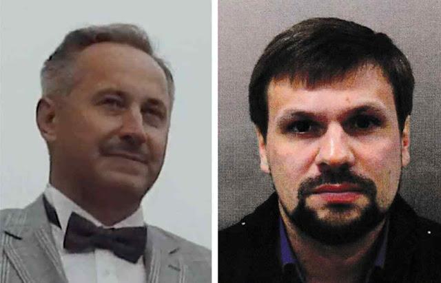 Andrei Averyanov (esq) é o chefe da Undade 29155. Anatoly Chepiga (dir) é apontado pelo crime na Inglaterra contra Skripal.