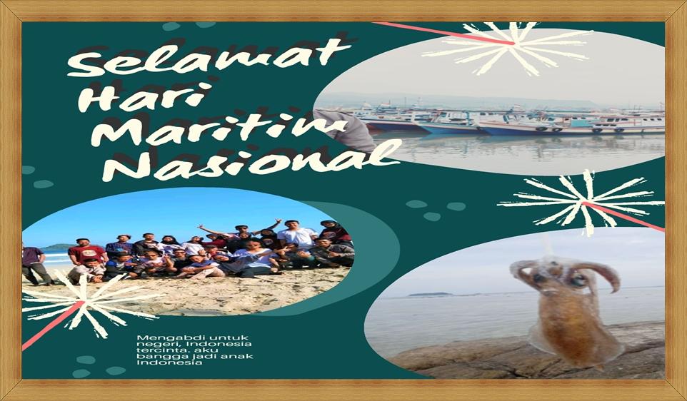 Poster Ucapan Hari Maritim Nasional Tahun 2020 Terbaru, Twibbon