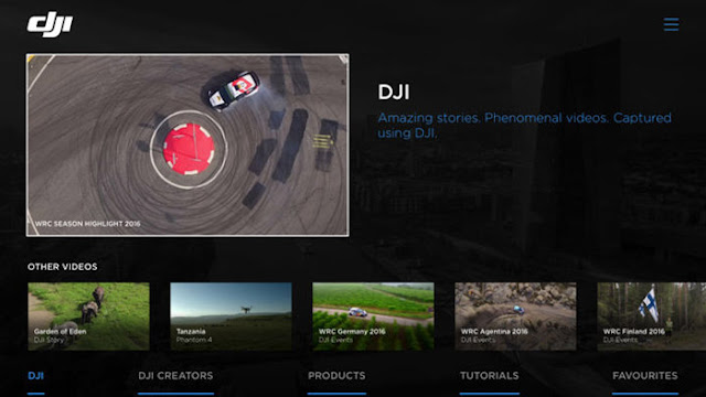 Dji presented this calendar week their offset app for tv set  DJI Launches Apple TV App for Streaming Drone Footage