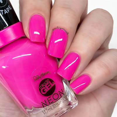 sally hansen miracle gel fuchsia fever summer 2019 neon collection limited edition swatches