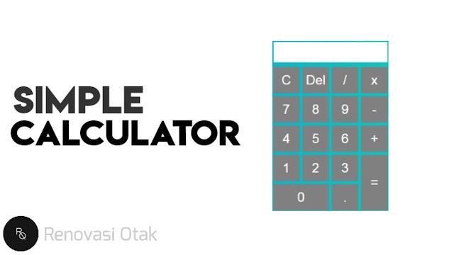 Membuat Kalkulator Sederhana