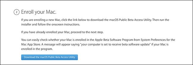 registrazione a macOS Movaje Beta