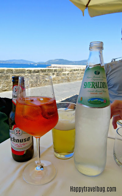 Drinks at Angedras  in Alghero, Sardinia, Italy