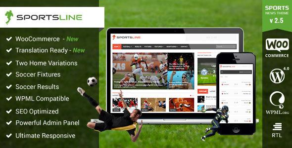 Sportsline - Responsive Sports News Theme Free download