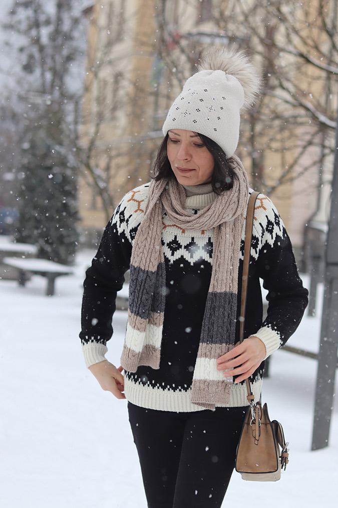 sweter skandynawski norweski stylizacje