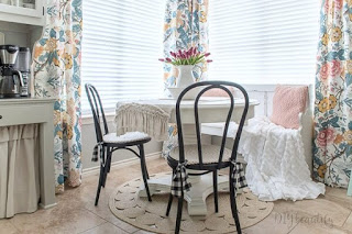 floral patterned curtains