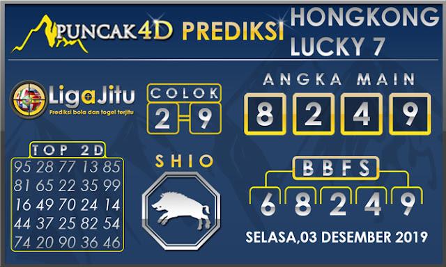PREDIKSI TOGEL HONGKONG LUCKY7 PUNCAK4D 03 DESEMBER 2019