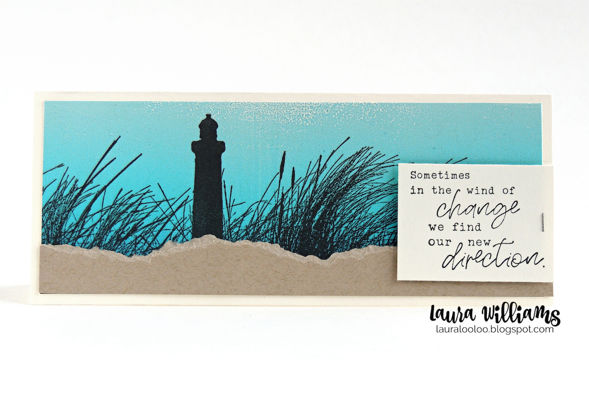 Today's card is a summer slimline card that comes together simply with Impression Obsession's slimline scene stamps. This beautiful lighthouse silhouette is a starting point for so many beautiful backgrounds - plus, it isn't just for slimline cards! This stamp looks equally gorgeous on cards of all shapes and sizes. Stop by my blog to see all the details on this card and the stamps I used.