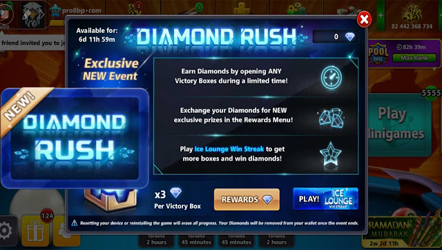 Diamond Rush Rewards