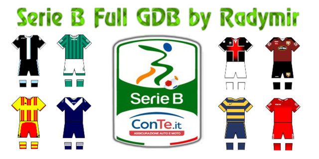 PES 2013 Serie B Full GDB kits 2016-17 by Radymir