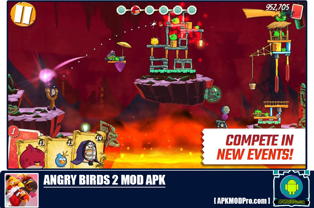 Angry Birds 2 MOD APK 2.37.0 (Unlimited Money/Energy) Terbaru 2020
