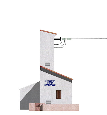 dibujo, arquitectura del agua, motor de riego, Alboraya