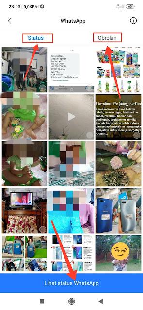 Simpan status video WhatsApp teman ke galeri