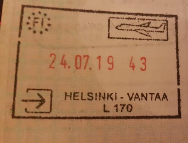 Stempel wjazdowy z Helsinek (2019)