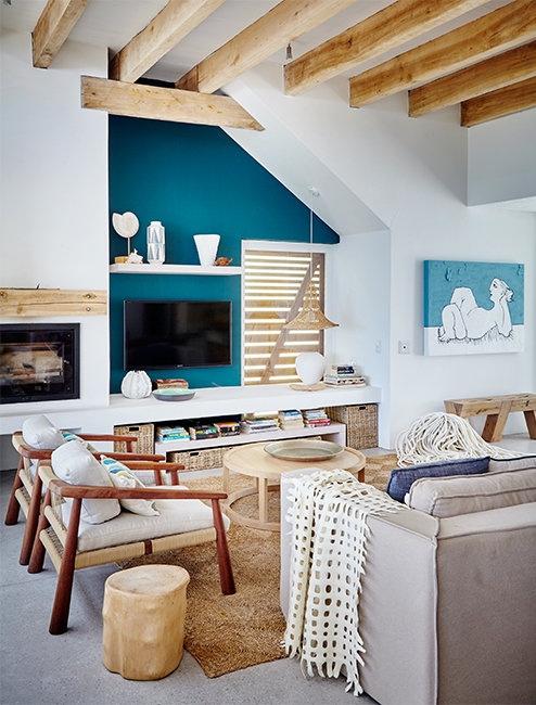 casa de playa con interior contemporaneo