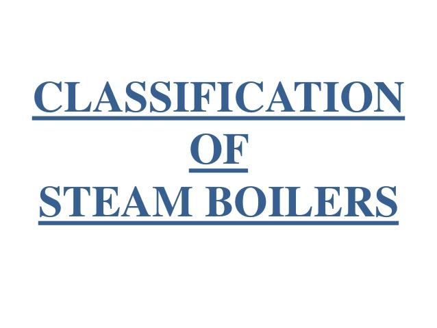 HowMechanismWorks ?: Classification of Steam Boilers :