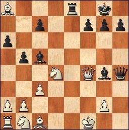 Partida de ajedrez Anglada - Prat, 1970, posición después de 19…Dh4