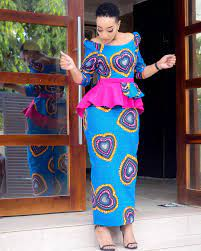 Peplum Ankara Skirt and Blouse Styles for 2020 and 2021