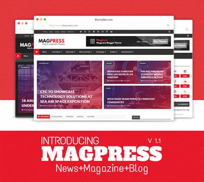 Magpress Blogger Template - Mẫu Template Blogspot tin tức năm 2016