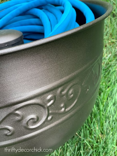 oil rubbed bronze hose holder bowl