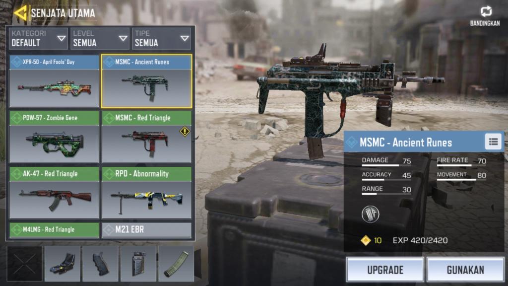 Senjata SGM COD Mobile