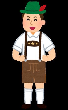 レーダーホーゼンを着たドイツ人男性のイラスト