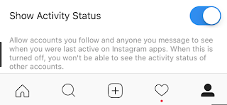 Instagram последняя активность