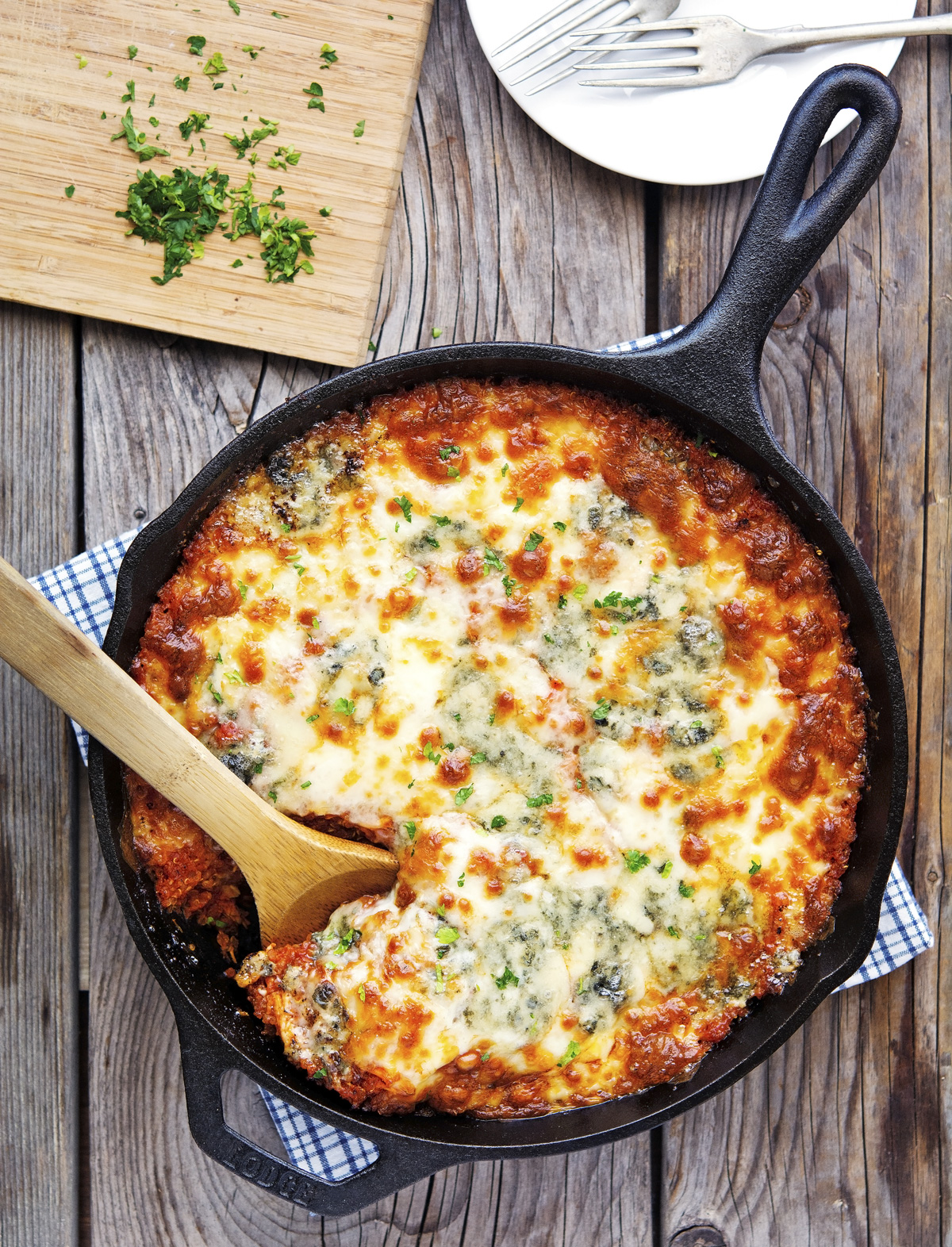 Buffalo Chicken Quinoa Casserole