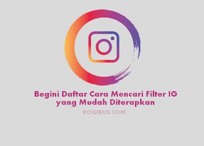 cara mencari filter ig