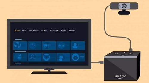 Amazon adds webcam support to the Fire TV Cube