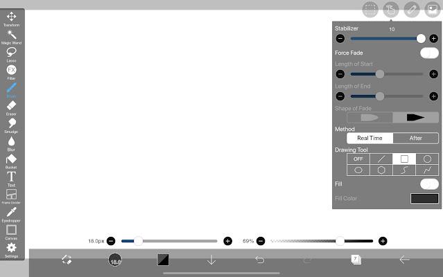 Drawing Tool: Rectangle in ibisPaint X