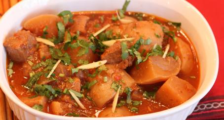 Salan Shaljam Gosht Bhunawa Asian Recipe