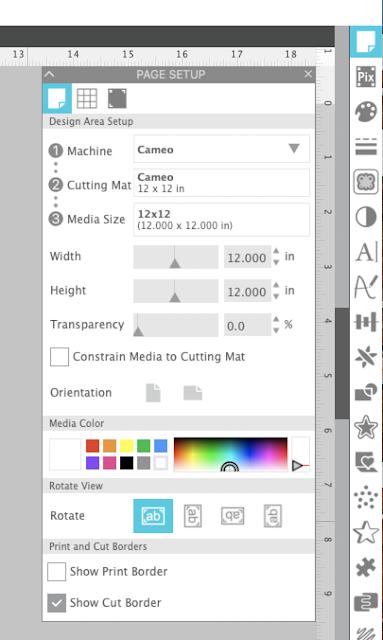 silhouette studio, silhouette studio v4.4, mockups, Page Setup Panel, Designing in Studio