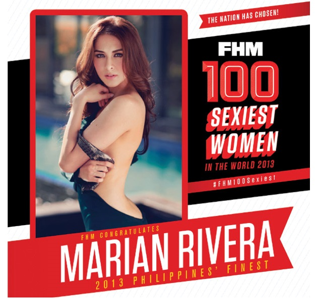 Marian Rivera FHM Philippines Sexiest 2013 winner